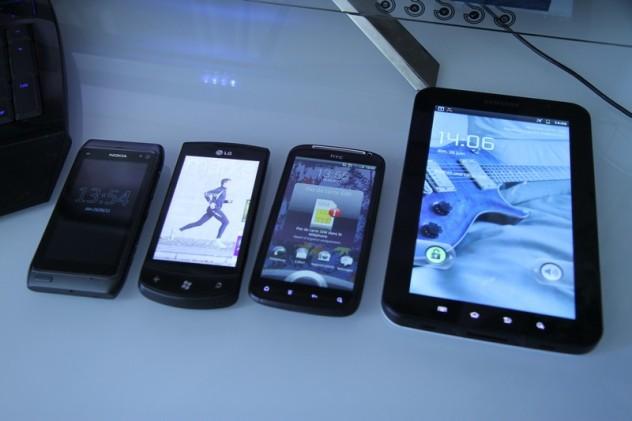 Nokia N8, LG Optimus 7, HTC Sensation & Samsung Galaxy Tab