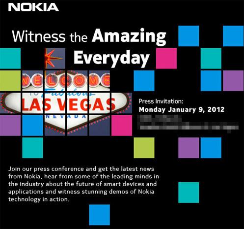 Nokia CES 2012 Lumia 900 invite